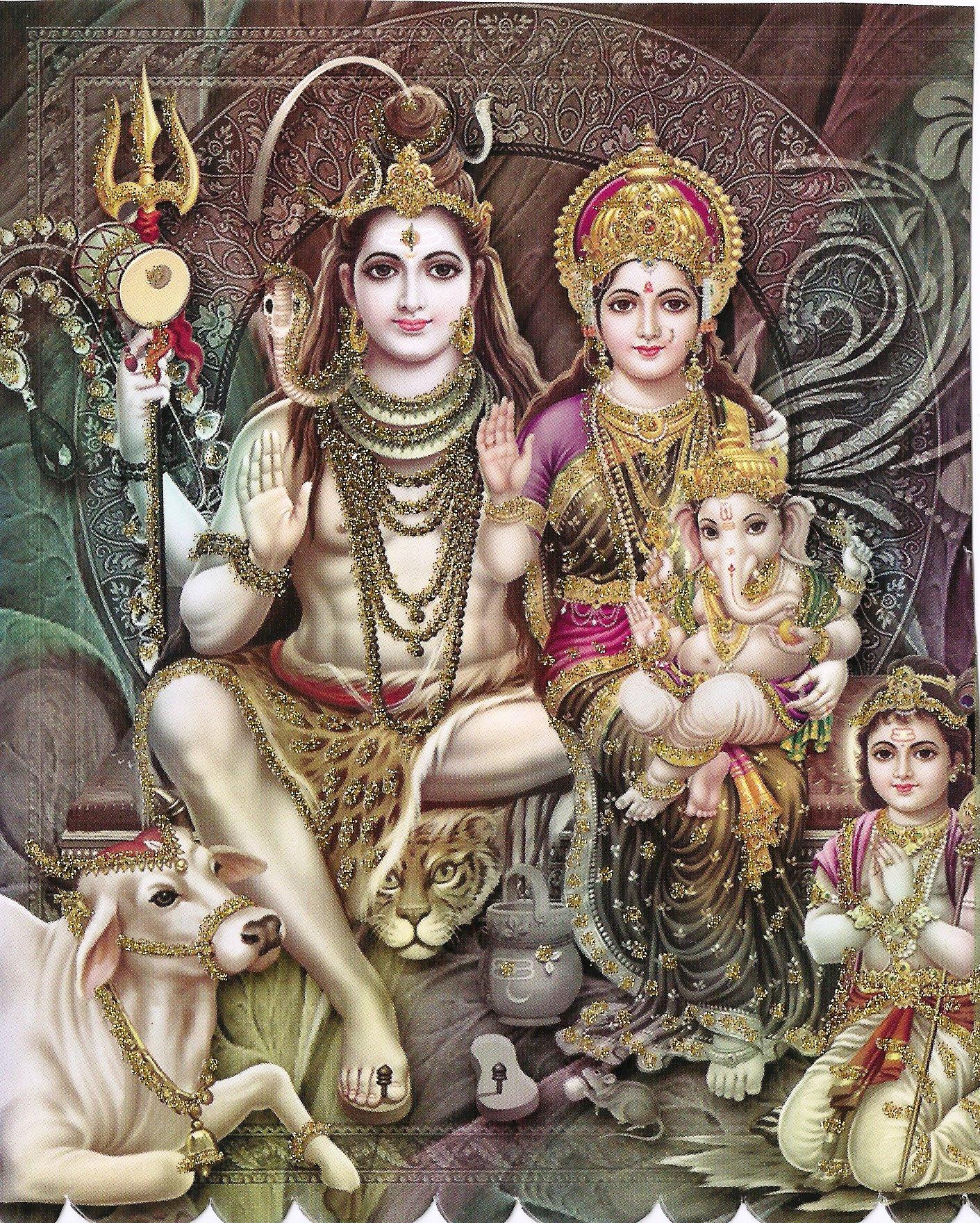Shiv Parvati Family